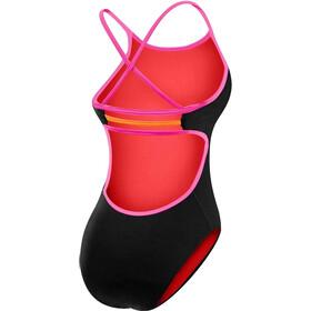 TYR Solid Trinityfit Bathing Suit Dame black/pink